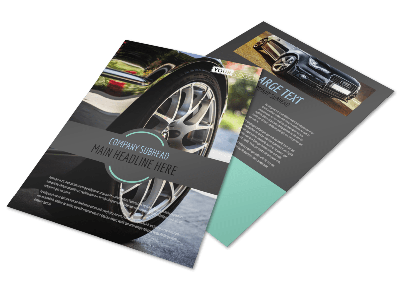 Tire Store Flyer Template Preview 1