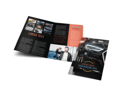 Auto Finance Bi-Fold Brochure Template preview