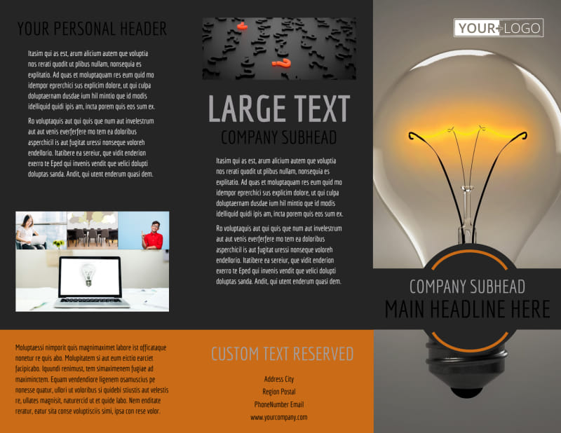 Invention Camp Brochure Template Preview 2