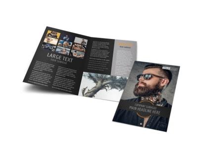 Tattoo & Body Piercing Parlor Bi-Fold Brochure Template preview