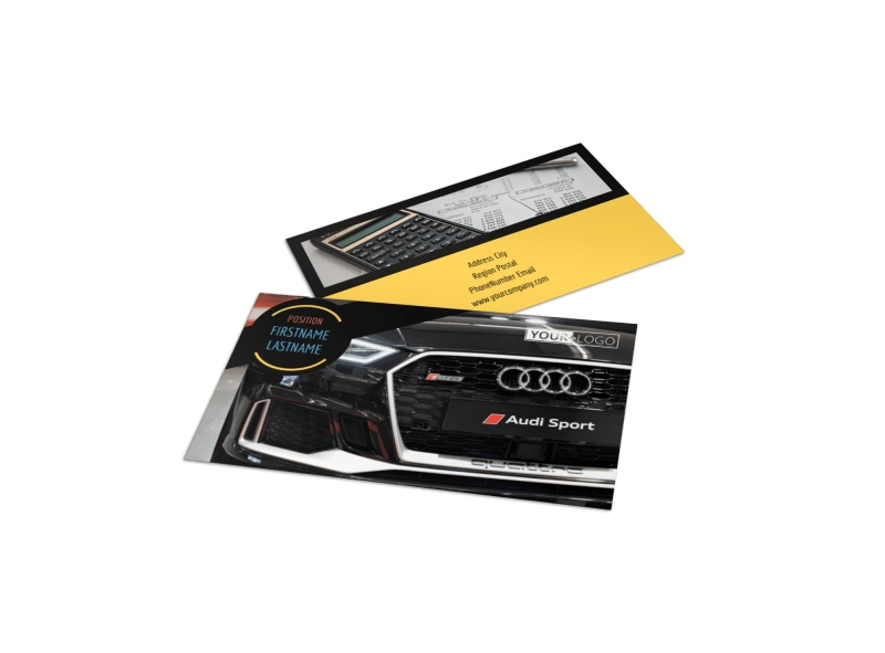 Auto Finance Business Card Template