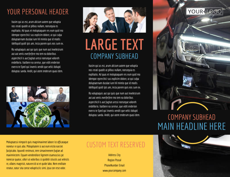 Auto Finance Brochure Template Preview 2