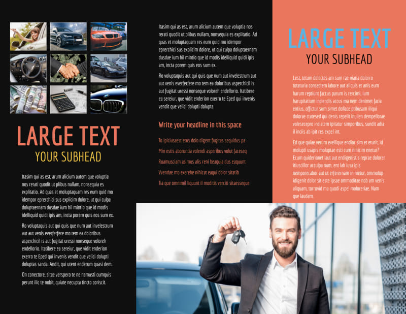 Auto Finance Brochure Template Preview 3