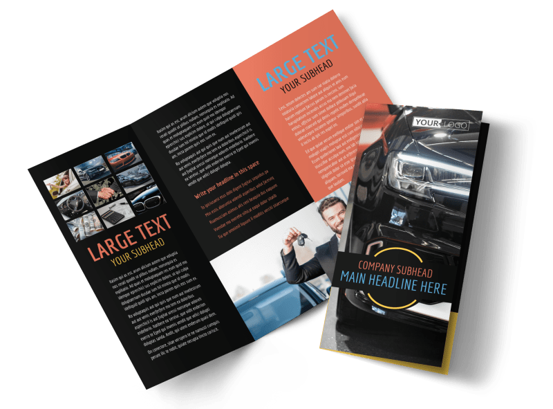 Auto Finance Brochure Template Preview 1