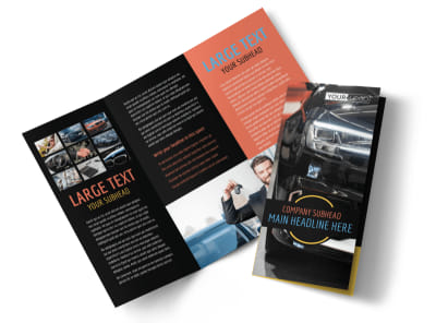 Auto Finance Tri-Fold Brochure Template preview