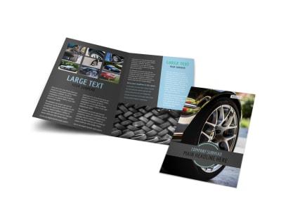 Tire Store Bi-Fold Brochure Template