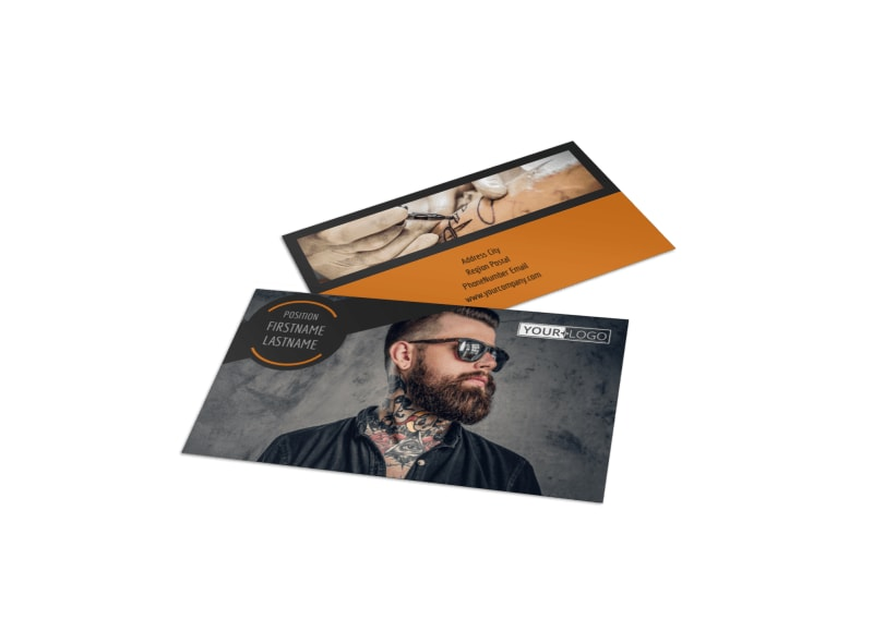 Tattoo & Body Piercing Parlor Business Card Template Preview 4