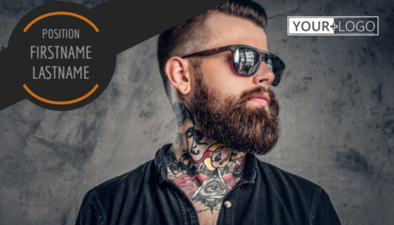 Tattoo & Body Piercing Parlor Business Card Template Preview 2