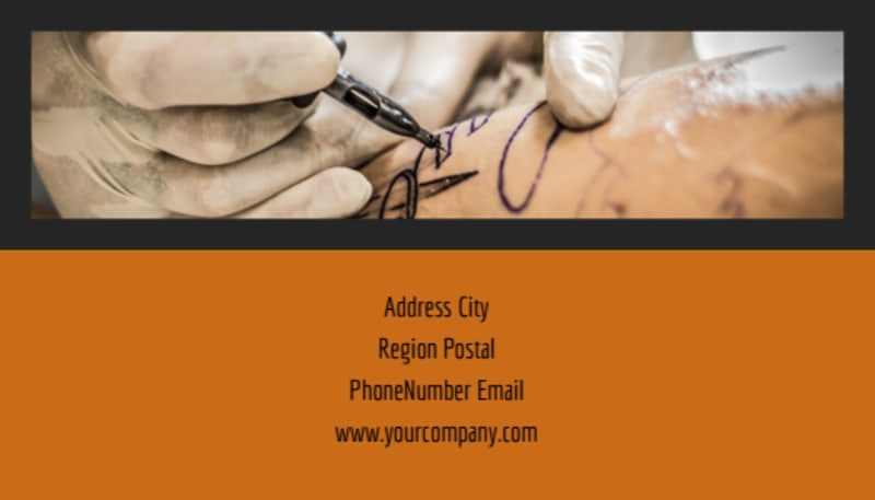 Tattoo & Body Piercing Parlor Business Card Template Preview 3