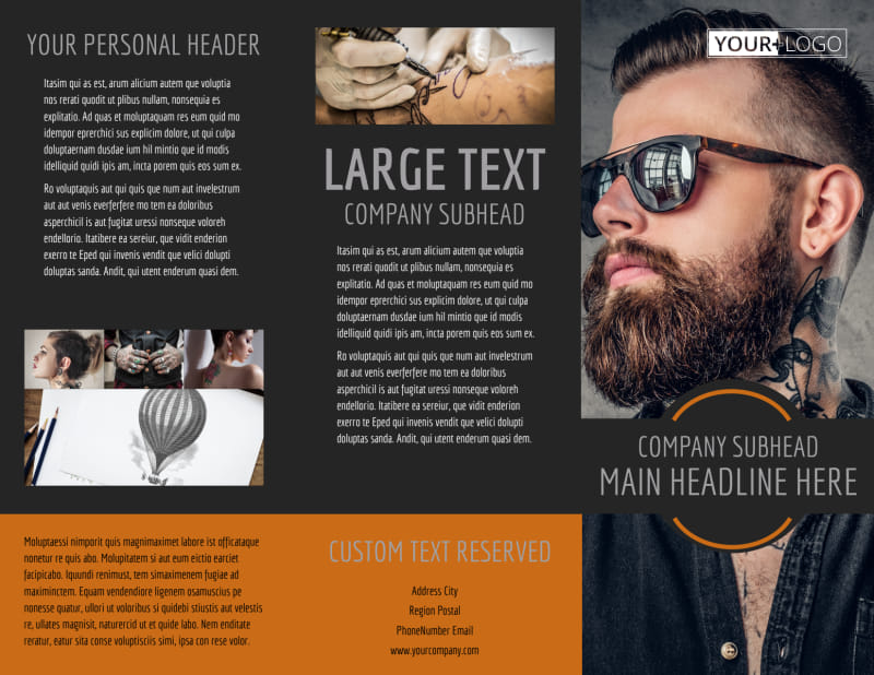Tattoo & Body Piercing Parlor Brochure Template Preview 2