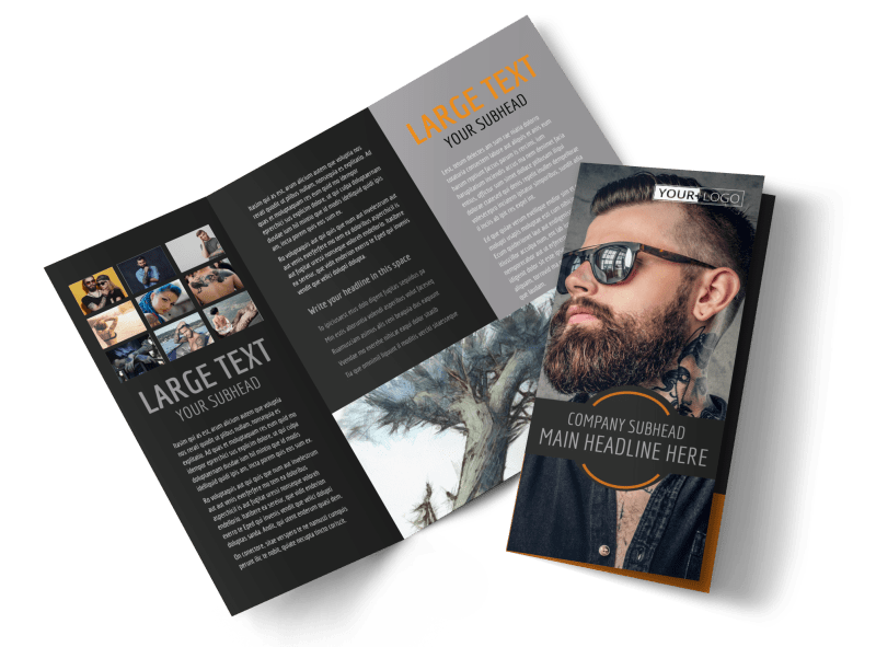 Tattoo & Body Piercing Parlor Brochure Template Preview 1