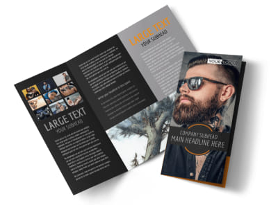 Tattoo & Body Piercing Parlor Tri-Fold Brochure Template preview