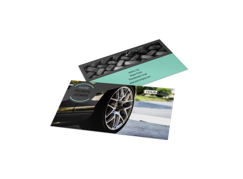 Tire Store Business Card Template Preview 4