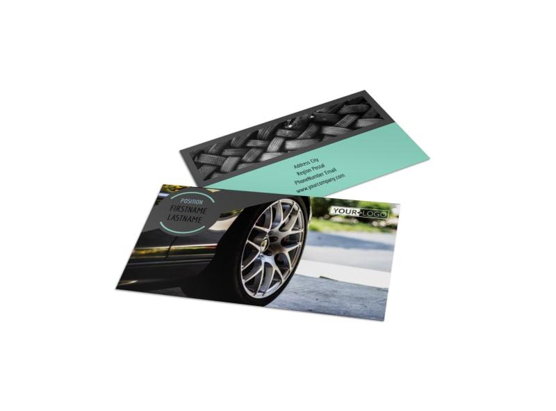 Tire Store Business Card Template Mycreativeshop