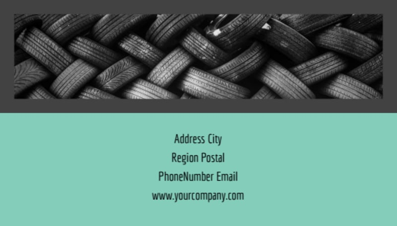 Tire Store Business Card Template Preview 3