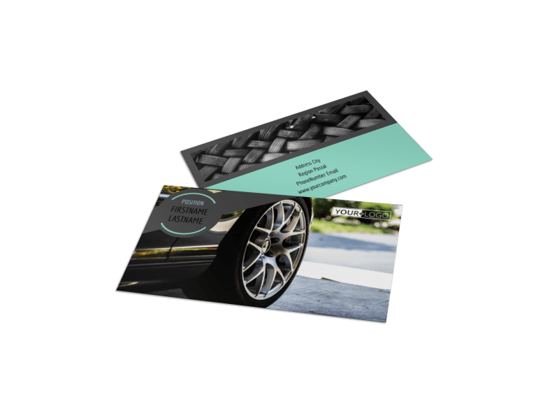 Tire Store Business Card Template Preview 1