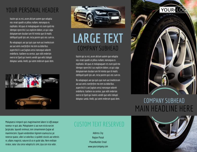 Tire Store Brochure Template Preview 2