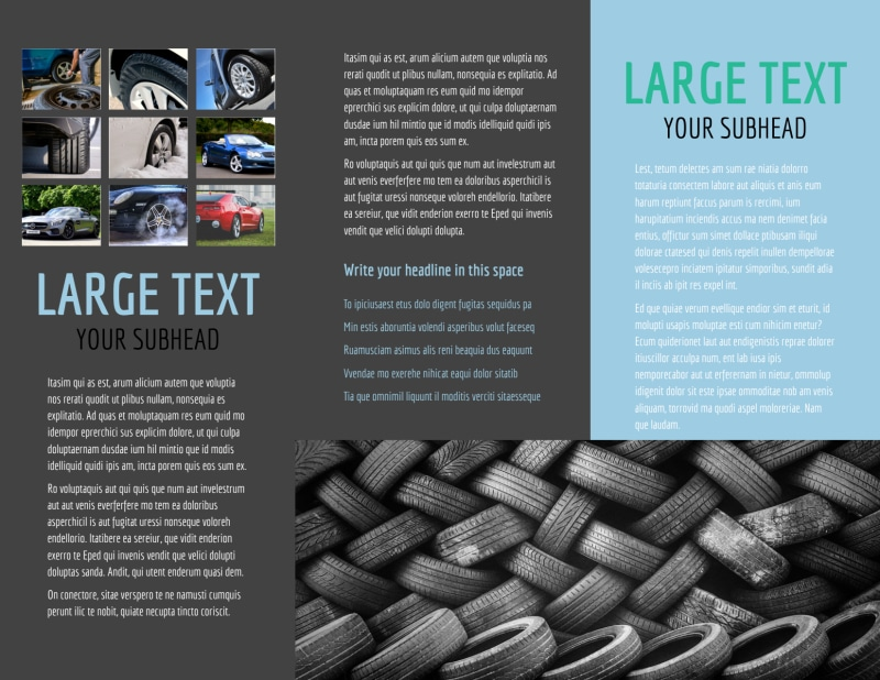 Tire Store Brochure Template Preview 3