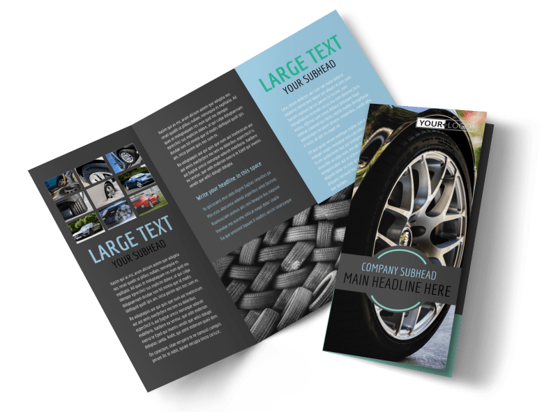 Tire Store Brochure Template Preview 1