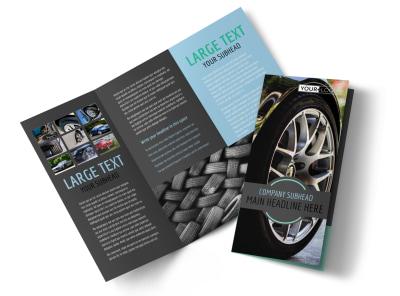 Tire Store Tri-Fold Brochure Template