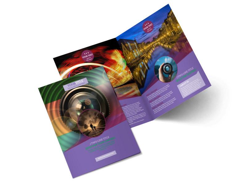 General Photography Design Bi-Fold Brochure Template 2
