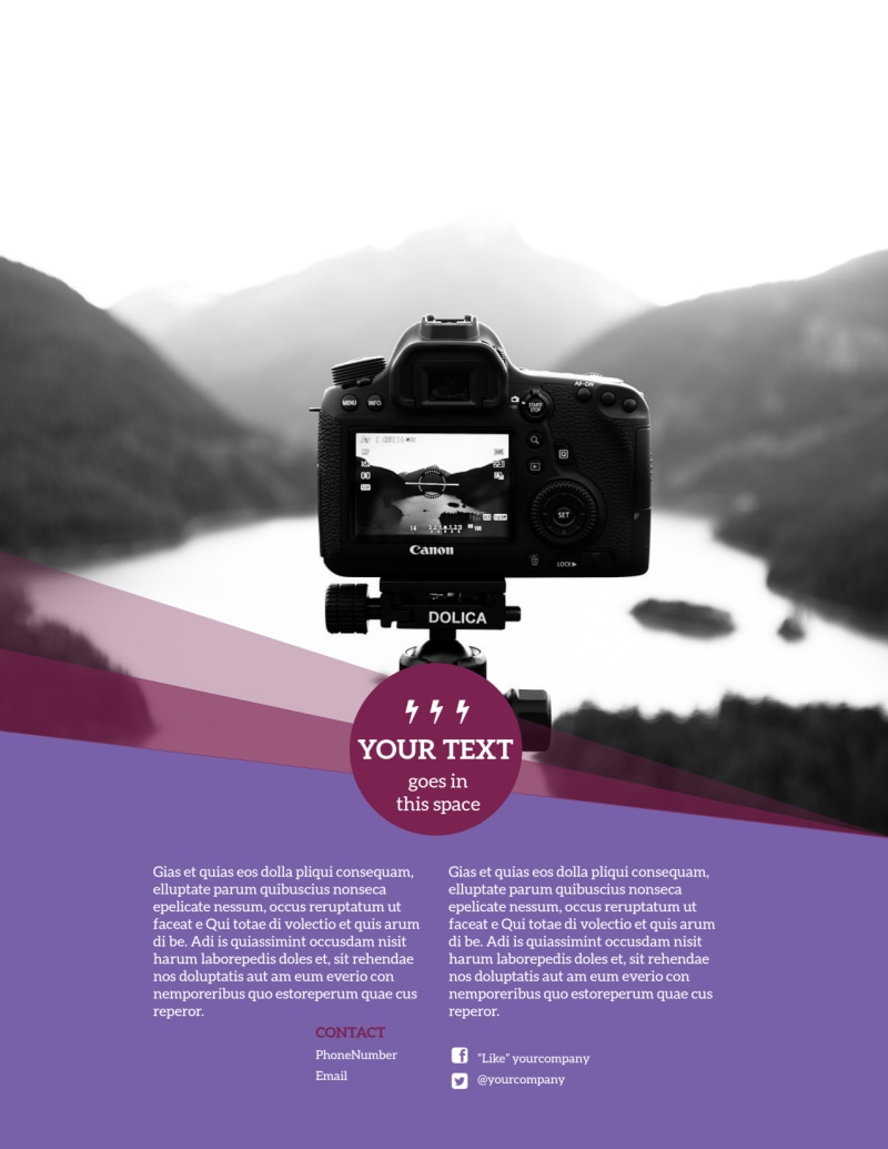 General Photography Design Flyer Template Preview 3