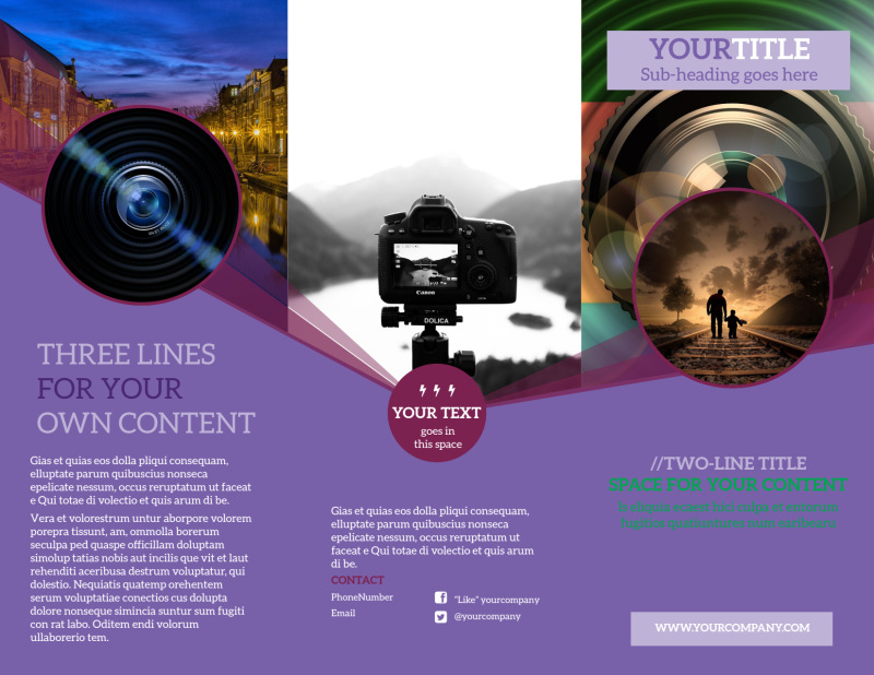 General Photography Design Brochure Template Preview 2