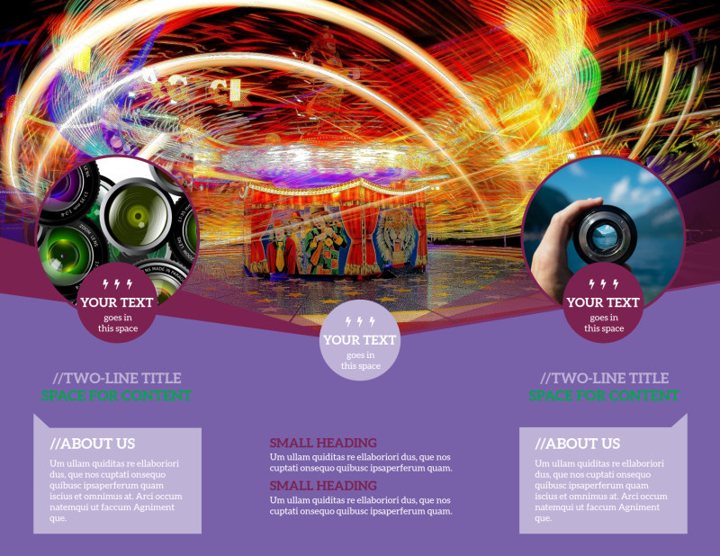 General Photography Design Brochure Template Preview 3