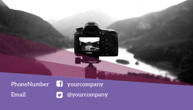 General Photography Design Business Card Template Preview 3