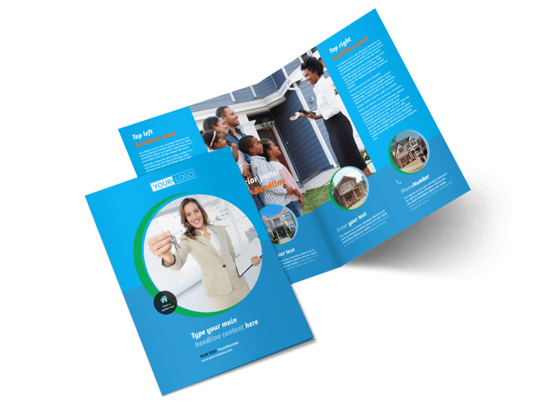 Real Estate Agent & Realtor Bi-Fold Brochure Template 2