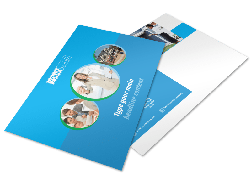 Real Estate Agent Postcard Template Preview 1