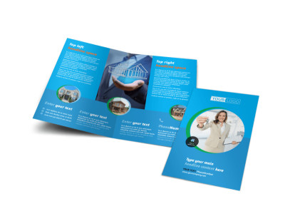 Real Estate Agent & Realtor Bi-Fold Brochure Template