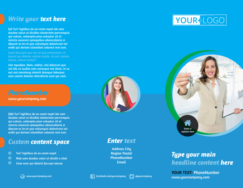 Real Estate Agent Brochure Template Preview 2