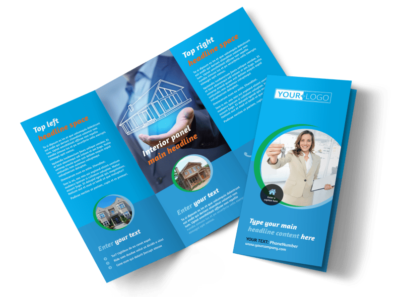 Real Estate Agent Brochure Template Preview 1
