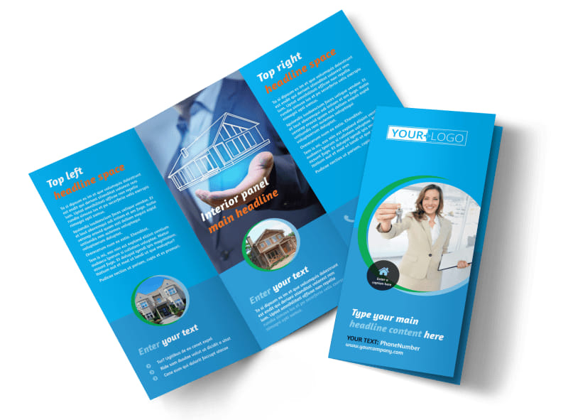 Real Estate Agent Brochure Template  Mycreativeshop