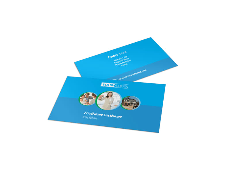 Real Estate Agent & Realtor Business Card Template