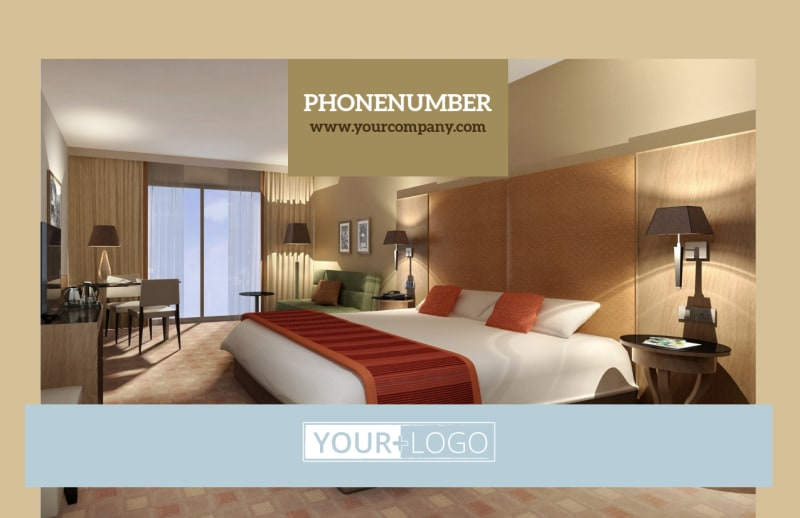 Hotels Postcard Template Preview 2