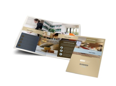 Hotels Bi-Fold Brochure Template