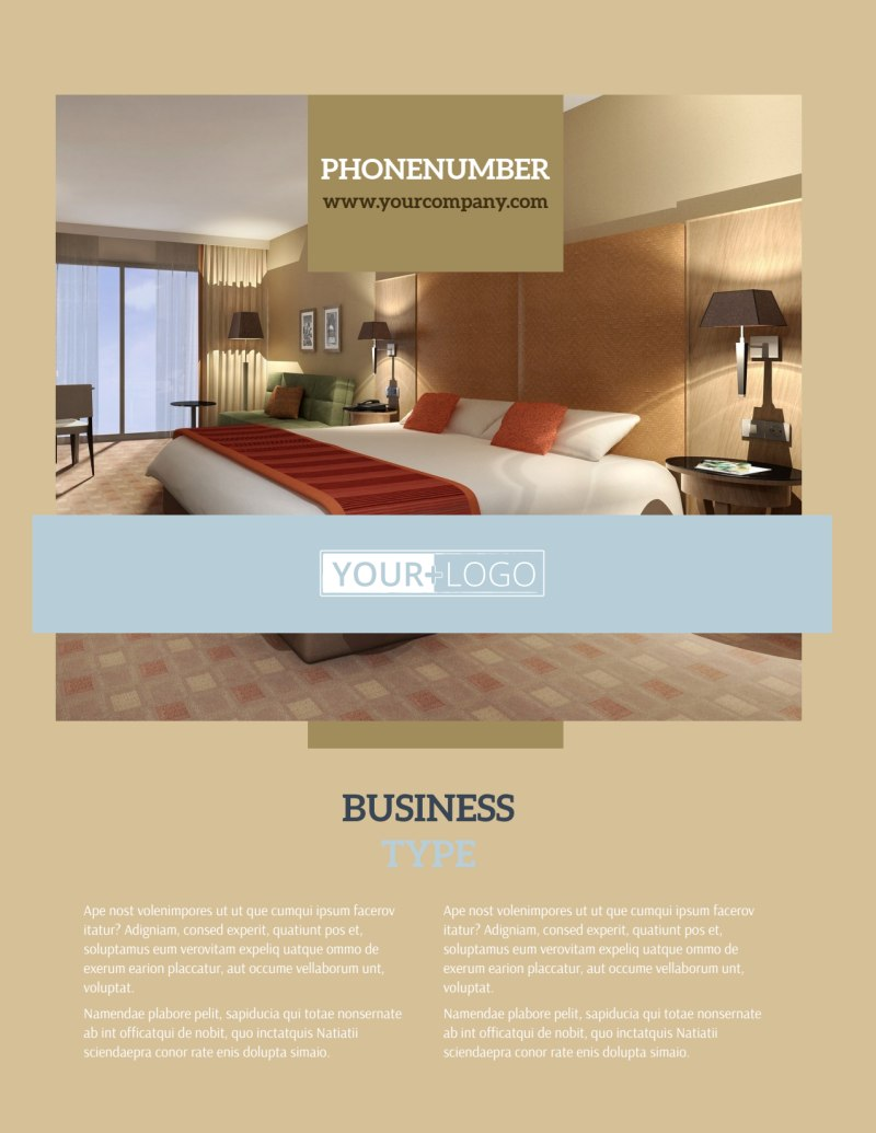 Hotels Flyer Template Preview 2