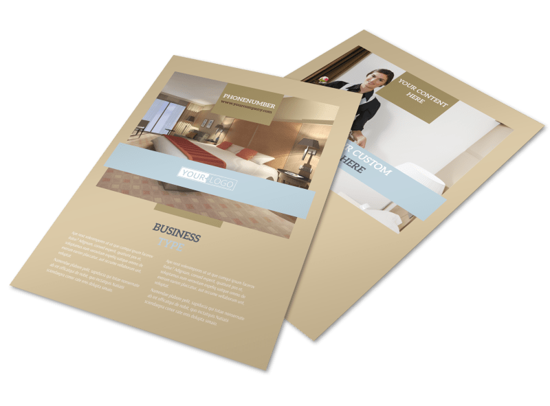Hotels Flyer Template Preview 1