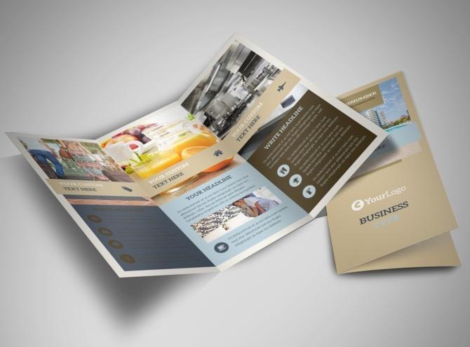 hotel brochure templates - hotels tri fold brochure template