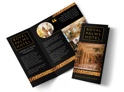 Hotels Tri-Fold Brochure Template preview