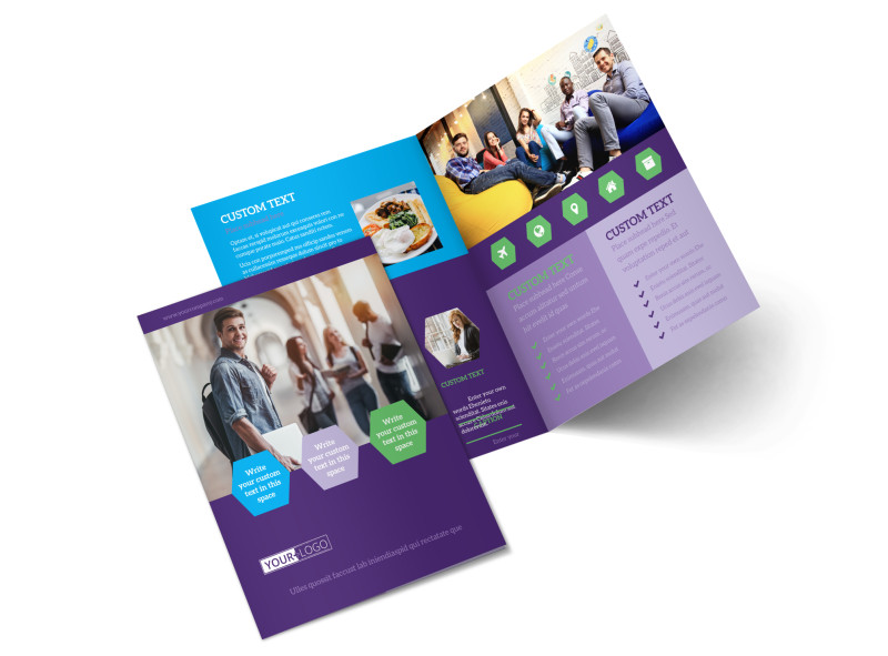Student Accommodations Brochure Template Mycreativeshop