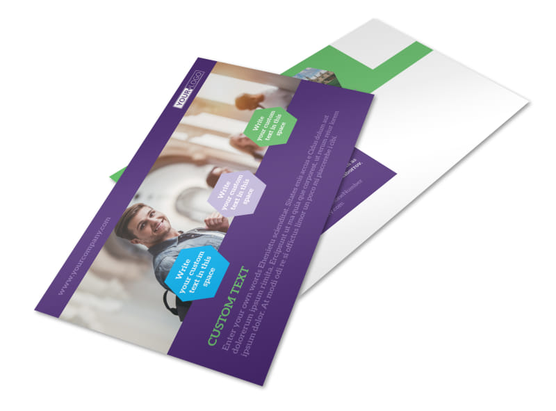 Student Accommodations Postcard Template 2