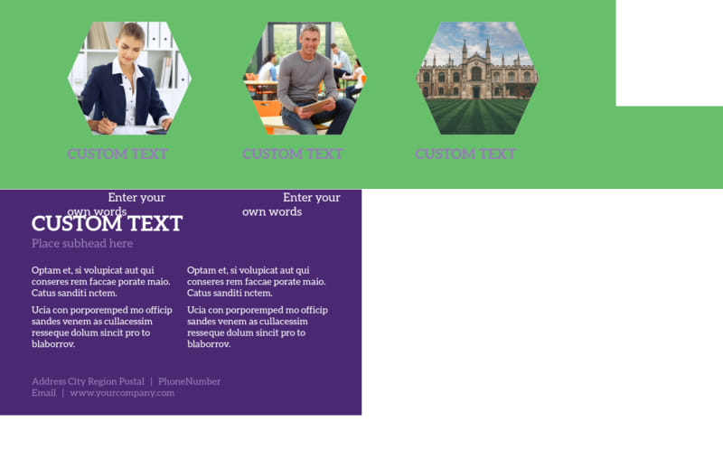 Student Accommodations Postcard Template Preview 3