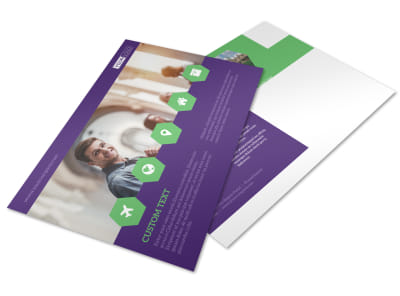 Student Accommodations Postcard Template preview