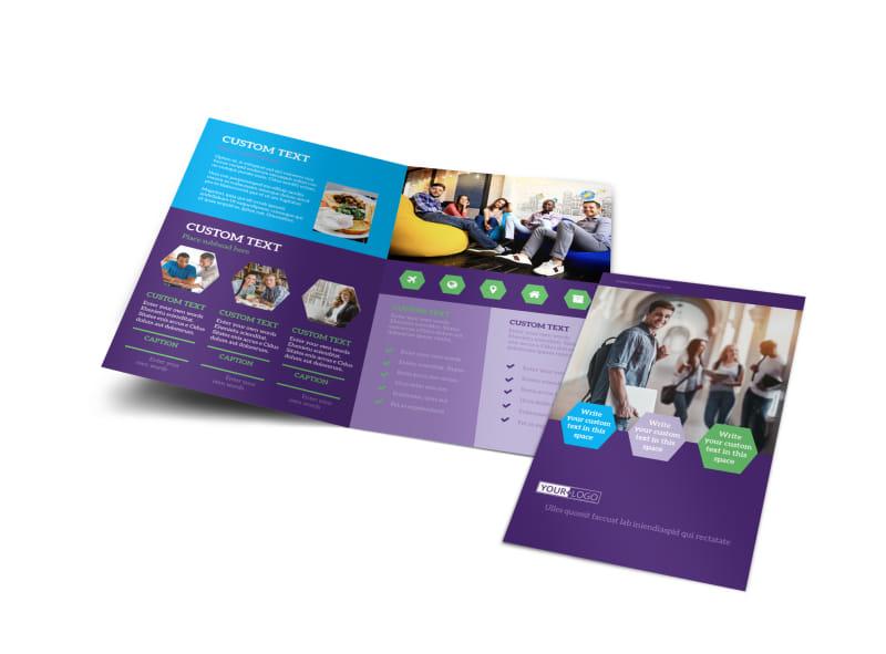 Student Accommodations Bi-Fold Brochure Template