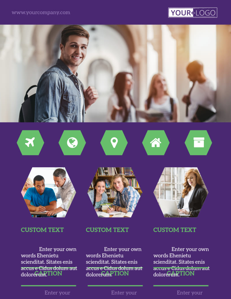 Student Accommodations Flyer Template Preview 2