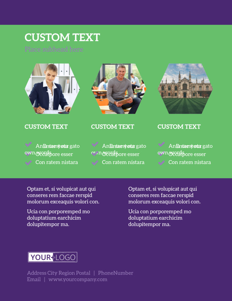 Student Accommodations Flyer Template Preview 3