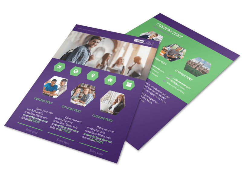 Student Accommodations Flyer Template Preview 1